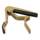 Aluminum Alloy Clip-On Quick Release Capo for Acoustic Guitar - Golden + black