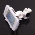 PANNOVO 360 Degree Rotation Bike Holder Mount + Water Resistant Case for Iphone 4 / 4S / 5 - White