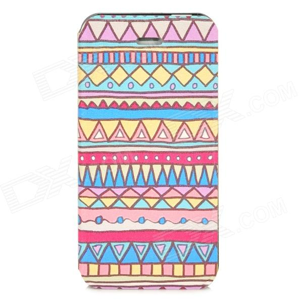Tribal Style Protective PU Leather Case w/ Stand for Iphone 5 - Multicolored майка print bar metal is the new black