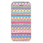 Tribal Style Protective PU Leather Case w/ Stand for Iphone 5 - Multicolored