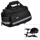 JSZ Outdoor Cycling Bike Back Seat Bag w/ Shoulder Strap - Black