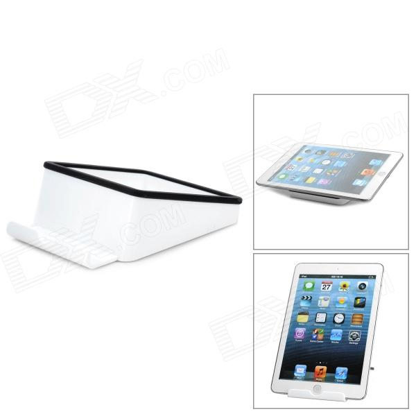 Universal PP Stand Holder for Tablet PC Ipad - Black + White cheerlink universal desktop stand for retina ipad mini cell phone tablet pc black orange