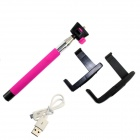 PANNOVO Wireless Bluetooth Mobile Phone Monopod for iOS 4.0 and Above System - Deep Pink