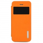 REMAX Protective PU Leather + PC Case w/ Stand for Iphone 5S - Orange