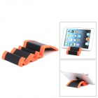 Wave Style Aluminium Alloy Stand for Ipad + Tablet PC - Black + Orange