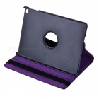360 Degree Rotatable PU Leather Case for Ipad AIR - Purple