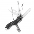 WRINGTON N36W25 Foldable Multifunction Stainless Steel Plier Tool - Silver + Red + Black