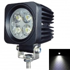 LML-1410 60 Degrees Flood Beam 12W 900lm 6000K 4-LED White Light Car Headlamp - Black (DC 10~30V)