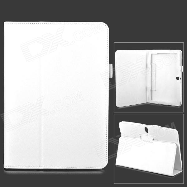 Protective PU Leather Flip Open Case for Samsung Galaxy Note 10.1 2014 Edition - White samsung galaxy note 10 1 2014 edition 3g 16gb