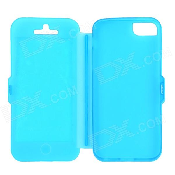 Protective Silicone Case for Iphone 5 - Blue protective matte silicone case for iphone 5 5s dark blue white