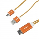 MHL Micro USB to HDMI HDTV Adapter Cable for Samsung Galaxy S3 / Note 2 / 3 - Golden (197cm)