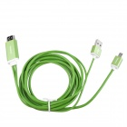 S-M09 MHL Micro USB to HDMI HDTV Adapter Cable for Samsung Galaxy S3 / Note 2 / 3 - Green (197cm)