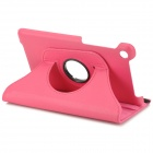 Lychee Pattern Rotary Protective PU Case w/ Stand for Google Nexus 7 Second - Deep Pink