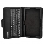 "Teclado 84-Key v3.0 IS11-ST300 Bluetooth + PU removível Case for Samsung Aitv T300 10 ""- Preto"
