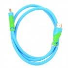 Sldd OFC HDMI Male to Male Cable for Plasma TV / Projector + More - Blue + Light Green (100cm)