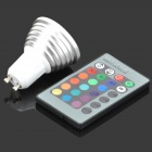 GU10 3W 120lm LED RGB Light Spotlight w/ Remote Controller (85~265V)