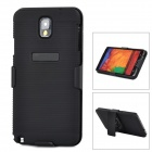 Stylish PC + TPU Case w/ Rotatable Stand for Samsung Galaxy Note 3 / N9000 - Black
