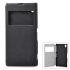 NILLKIN Protective PU Leather + PC Case w/ Display Window for Sony L39h Xperia Z1 - Black