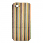 Protective Wood Back Case for Iphone 5 - Brown + Black + Blue + Yellow