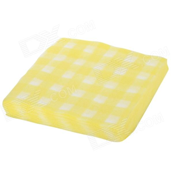 Fuanna Disposable Cotton Facial Cleaning Towel - Yellow + White (55 PCS)