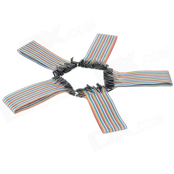 DIY Copper Breadboard DuPont Connection / Test Cables - Multicolored (200 PCS) 200 pcs red gold tone soldering breadboard pcb test pin replacements