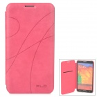 KALAIDENG Stylish PU + Microfiber Flip-Open Case for Samsung Galaxy Note 3 / N9000 - Deep Pink