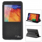 Protective PU Leather + TPU Case for Samsung Galaxy Note 3 N9000 - Black