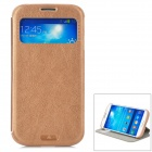 KALAIDENG Protective PU Case w/ Display Window / Stand for Samsung Galaxy S4 i9500 - Coffee