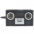 DEKKO DK005 Portable Media Player 2-CH Speaker w/ SD / USB - Black + Red + Purple
