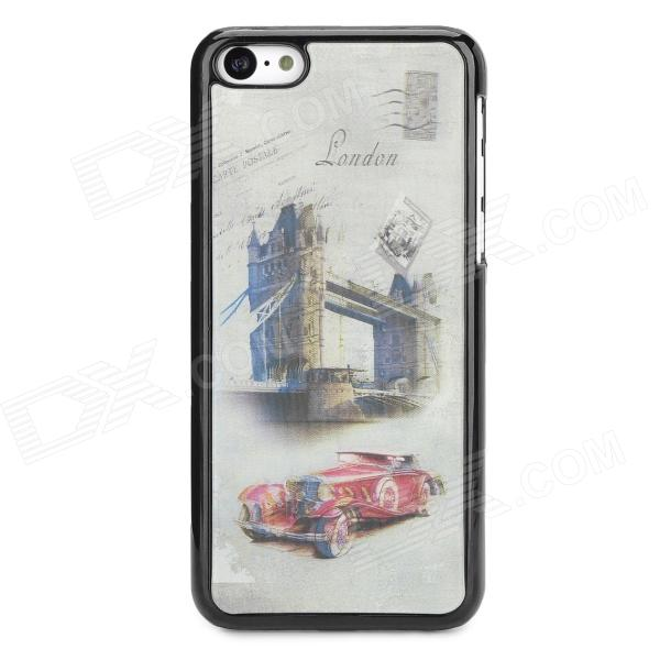 3D London Style Protective ABS + PC Back Case for Iphone 5C - Red + Grey White + Black elegance tpu pc hybrid back case with kickstand for iphone 7 plus 5 5 inch red