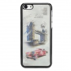 3D London Style Protective ABS + PC Back Case for Iphone 5C - Red + Grey White + Black