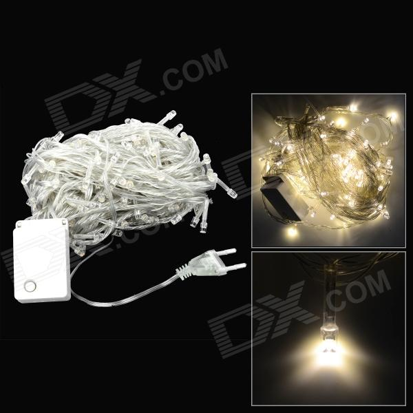 8 Mode 200 Warm White Light LED Decorative Lamp Strip for X'Mas - Translucent (AC 220V)  free shipping black white red color spider led pendant light decorative with warm white 2700k white color 6000k 8w e27 led lamp