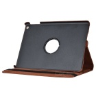 360 Degree Rotatable Protective PU + PC Flip Open Case w/ Stand for Ipad AIR - Brown