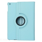 360 Degree Rotatable PU Leather Case for Ipad AIR - Blue