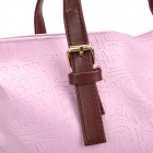 Oracle Pattern Water Resistant One Shoulder PU Leather Bag for Women - Purple