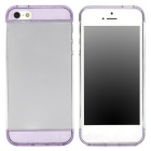 S-What Stylish 3-part PC Back Case for Iphone 5 / 5s - Purple + White