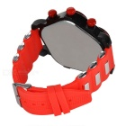 Five Dial Silicone Band Analog Quartz Wrist Watch - Red + Black