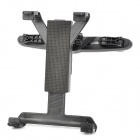 2-in-1 Car Headrest Mounted 360' Rotating Plastic Holder for Ipad / GPS / MID + More - Black