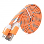 USB to Micro USB Charging / Data Cable for Samsung / HTC + More - Orange + Blue + White (100cm)