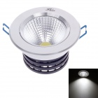 "ZIYU ZY-0810-026 10W 850lm 6500K LED White 3"" Ceiling Light - White + Black + Silver (AC 85~265V)"