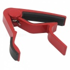 Aluminum Alloy Clip-On Quick Release Capo for Acoustic Guitar - Red + Black