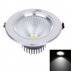 "ZIYU ZY-0810-024 7W 560lm 6500K LED White 3.5"" Ceiling Light - White + Black + Silver (AC 85~265V)"