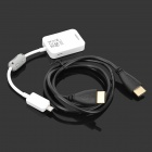 MHL Micro USB 11pin to HDMI + HDMI Male to Male Data Cable for Samsung Galaxy i9500 + More - White