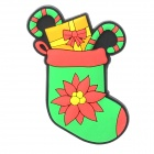 10050138 Creative Christmas Sock Style Magnet - Green + Red