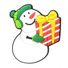 10050137 Creative Christmas Snowman Style Magnetic Sticker - Green + Red + White