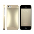 HOTGO Protective Aluminum Alloy Back Case for Iphone 5 / 5s - Light Golden