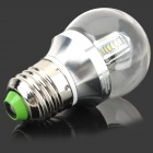 E27 4W 300lm 3500K 32-LED White Light Lamp - Silver (85~265V)