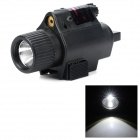 3 Mode Flashlight Red Laser Scope Gun Aiming Sight - Black