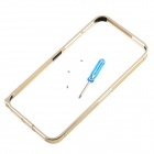 0.7mm Ultra Thin Aluminum Alloy Bumper Frame w/ Screwdriver for Iphone 5 - Golden