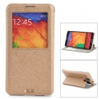 KALAIDENG Protective PU + Supebric Case for Samsung Galaxy Note 3 N9000 - Champagne Golden